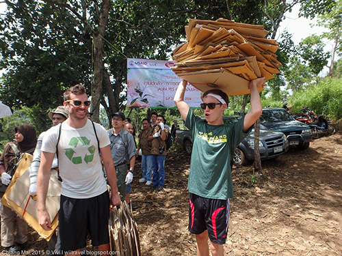 Planting trees in Chiang Mai
